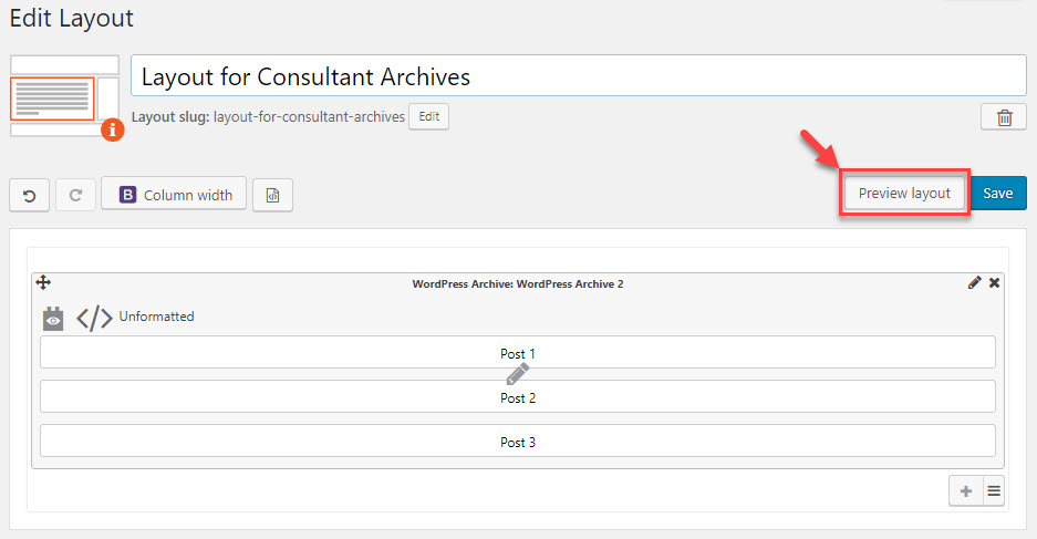 Previewing your archive on the front-end