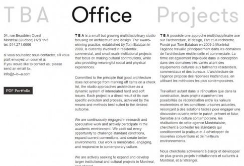 TBA – architecture and design