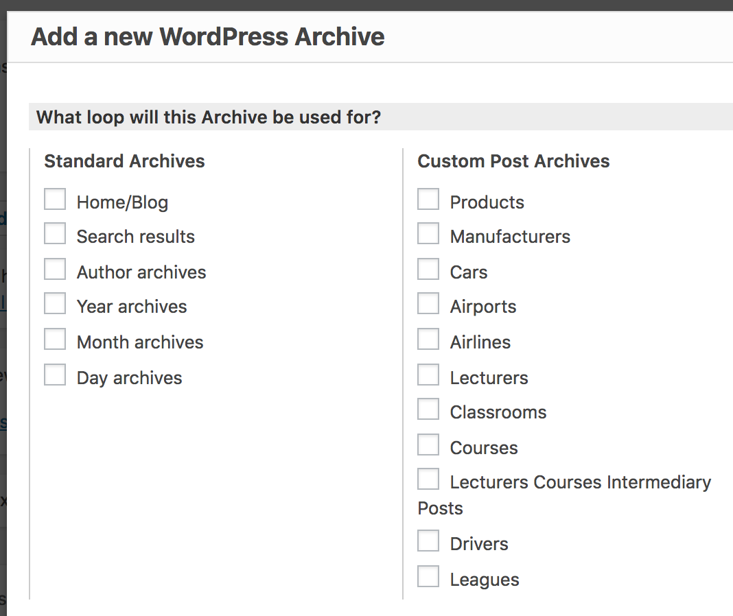 How To Apply Content Template To Wordpress Default Search Archive