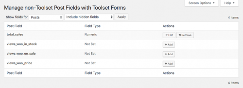 Managing non-Toolset Post Fields with Toolset Forms