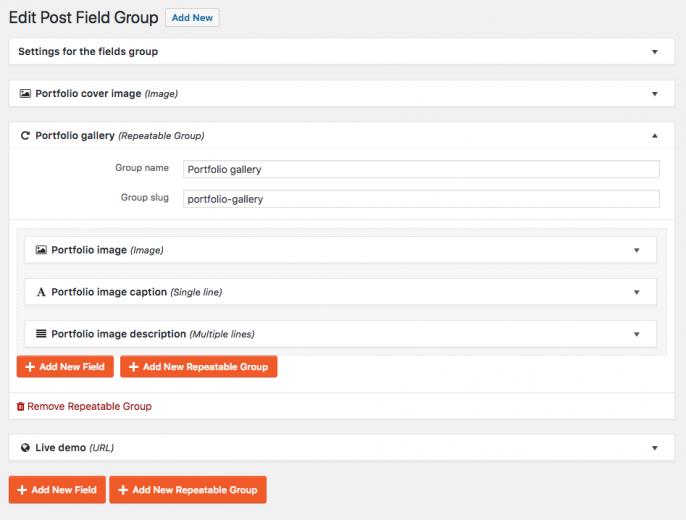 Custom fields defined in the Toolset Types plugin