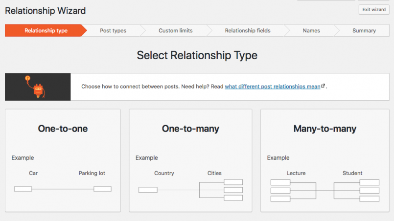 In Toolset you can create one-to-one, one-to-many and many-to-many relationships between post types