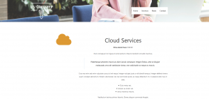 Single services page
