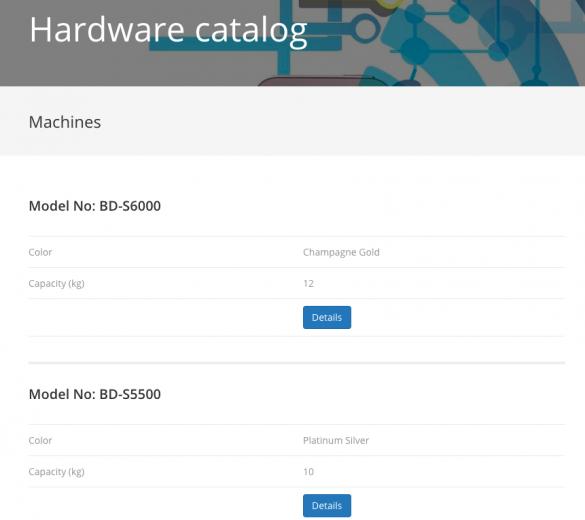 Machine archive page
