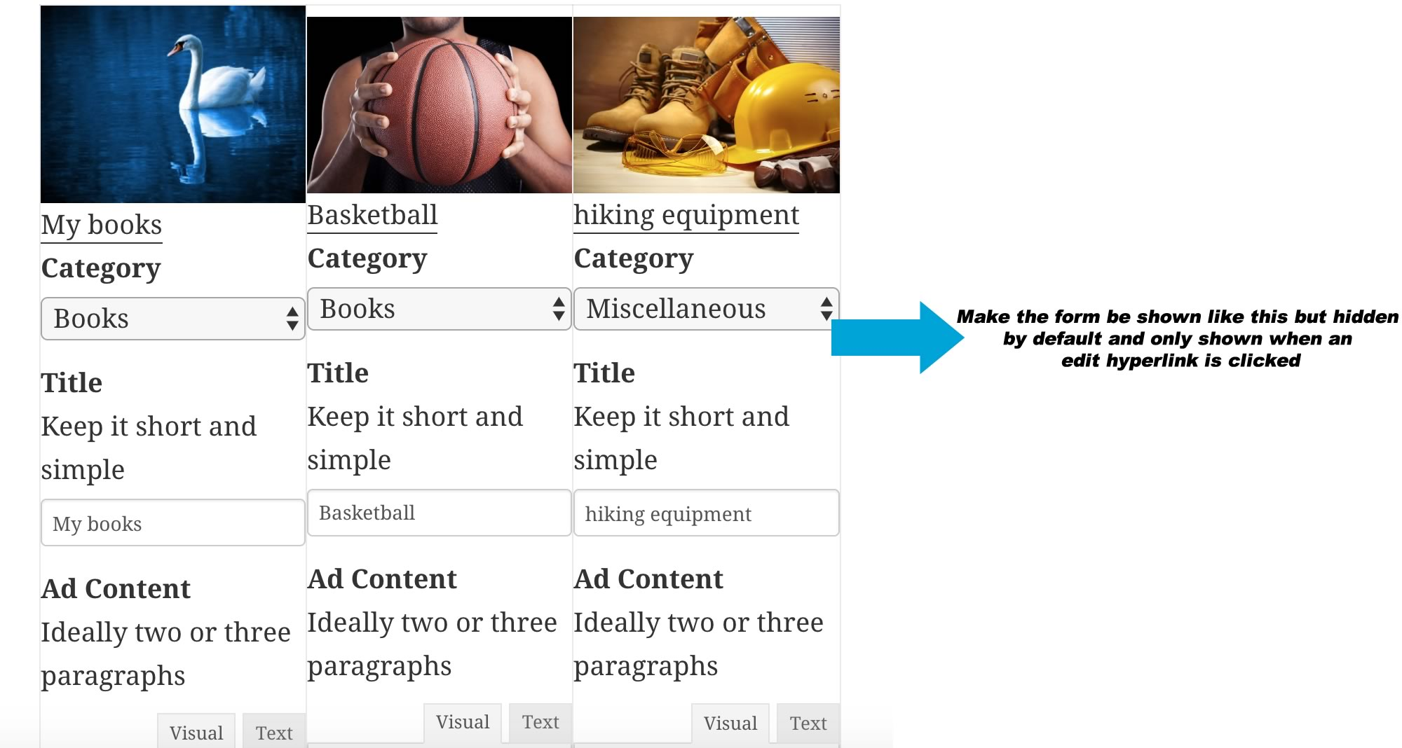 Possible to have edit link that show edit form inline? – Toolset