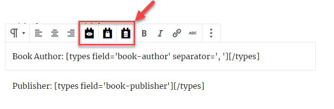 Toolset button in the native Paragraph block