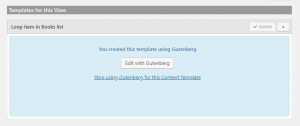 Use Gutenberg to design Content Templates