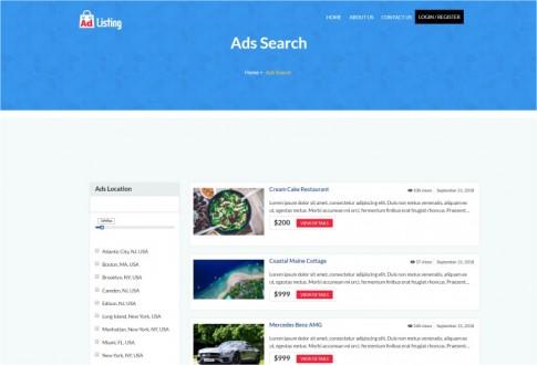 Ad Listing – directory listing WordPress theme