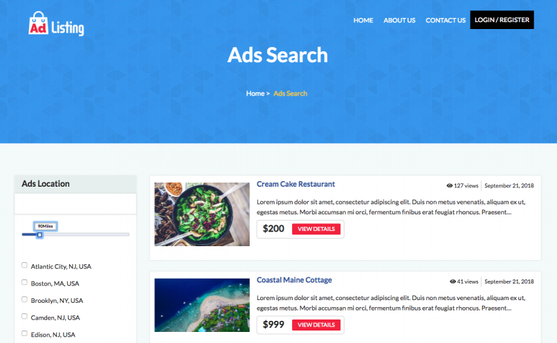AdListing - a WordPress theme for ads created with Toolset plugins and the Toolset-based theme tool