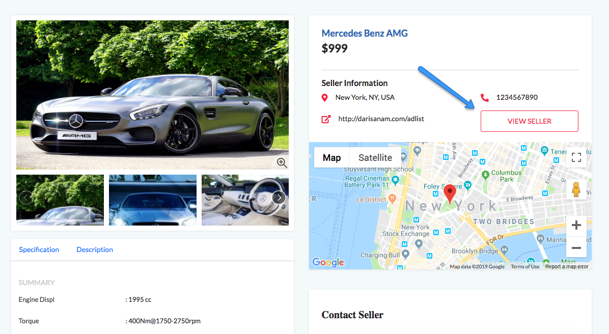 Connections between ads and sellers