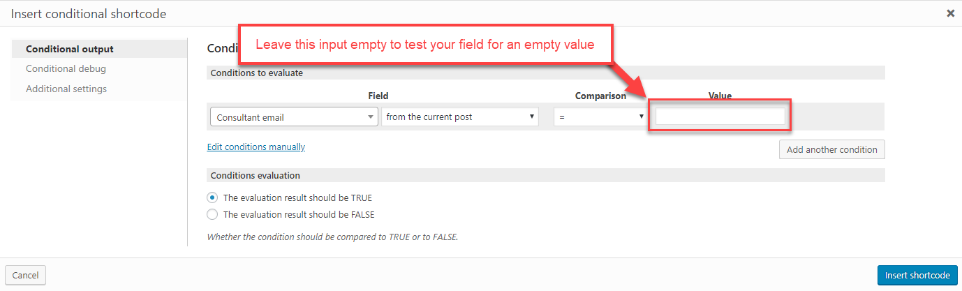 Checking fields and other elements for Empty/Non-empty