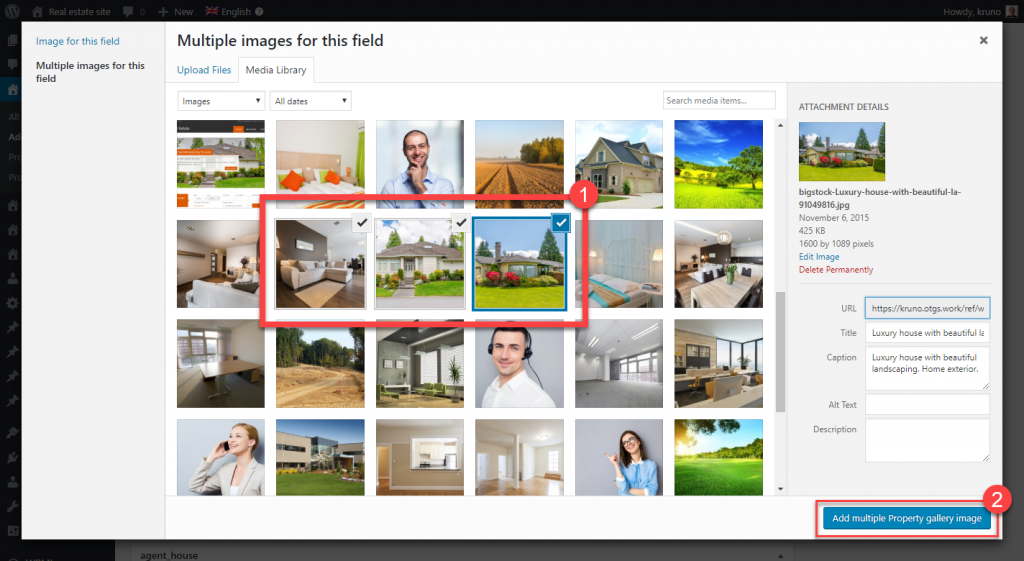 Selecting multiple images