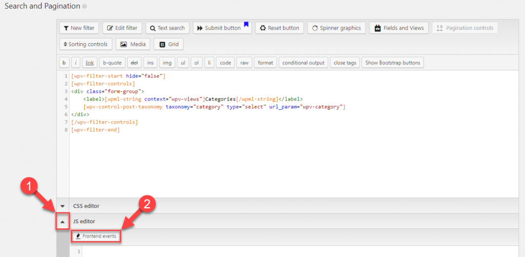Expand JavaScript editor