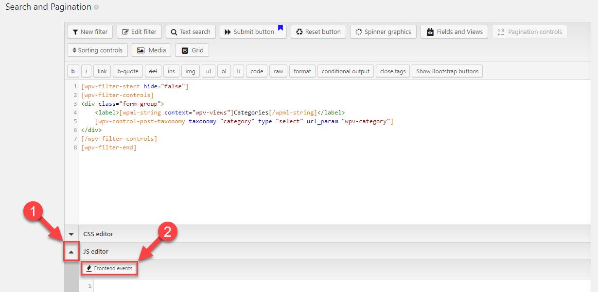 Adding custom JavaScript code to Views that use AJAX - Toolset
