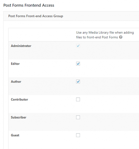 Using Toolset Access to control permissions for front-end forms usage of Media Manager