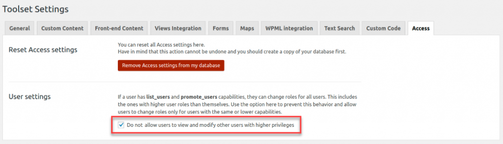 Do not allow users to view and modify other users with higher privileges