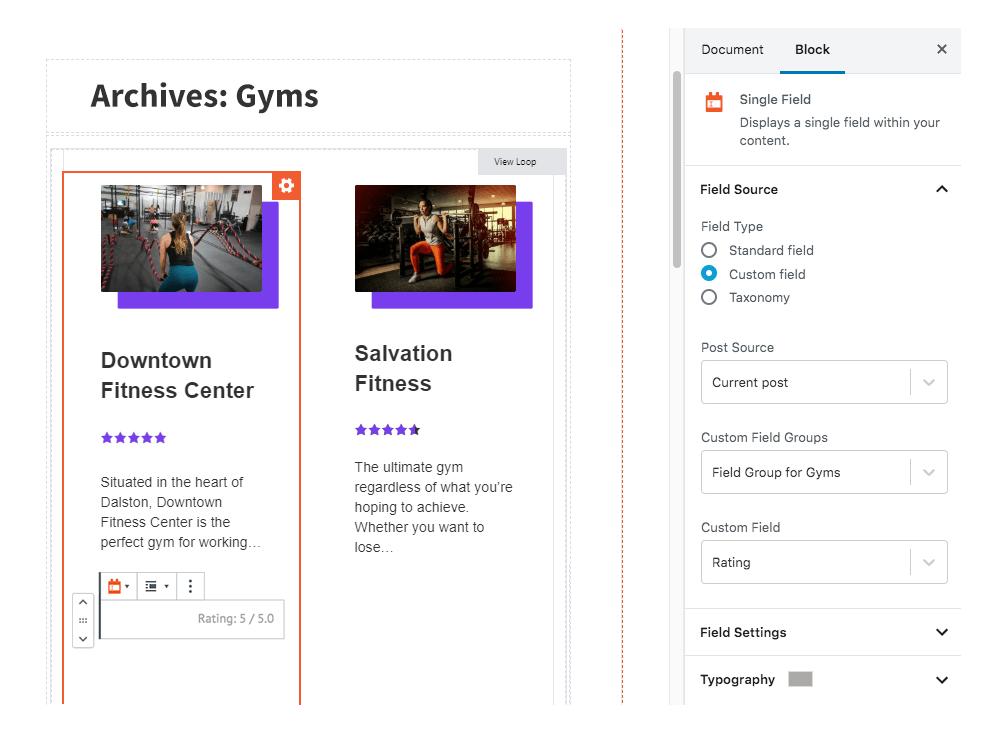 Toolset cho phép bạn xây dựng template cho trang single và archive của post type khá tốt