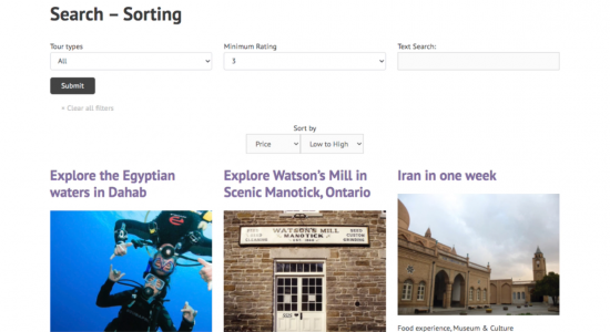 Adding front-end sorting to search results