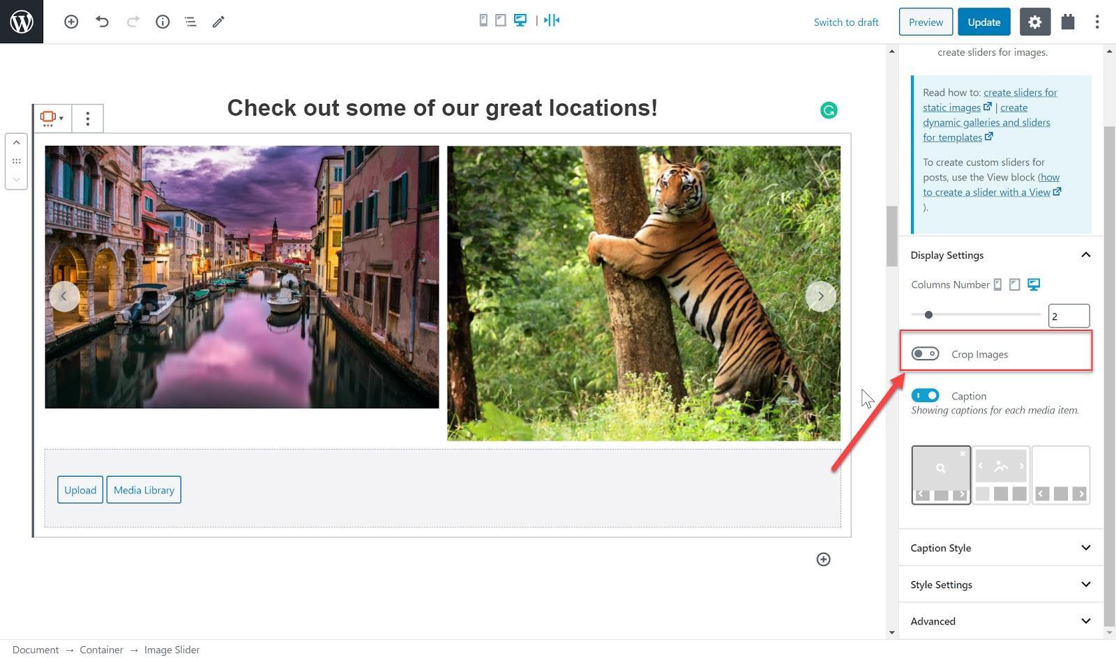 Crop your slider's images.