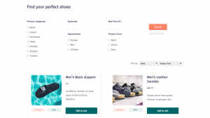 Creating a Page with a Custom Product Search