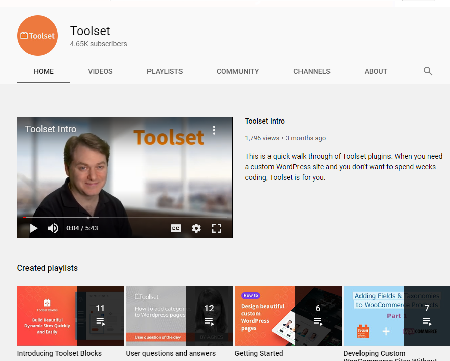 Are You Seeing the New Tutorial Videos for Toolset? 3