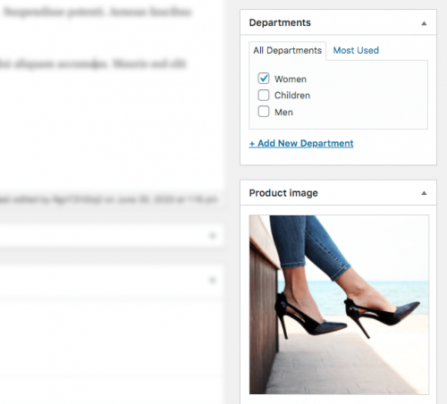 Selecting a custom taxonomy term when editing a WooCommerce product
