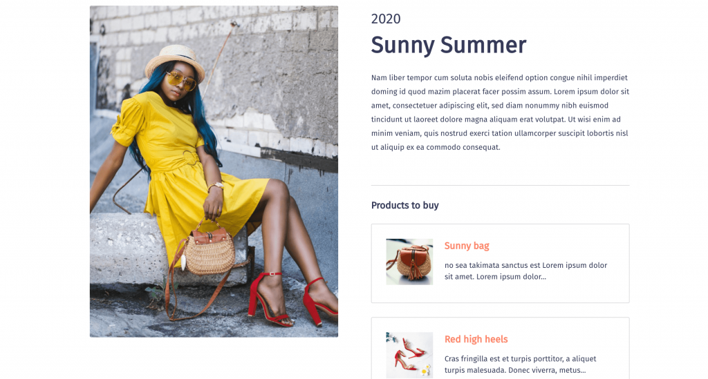 Create shoppable outfit inspiration using post relationships